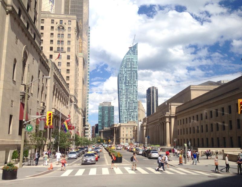 Opinião da rua de Toronto fotos de stock royalty free