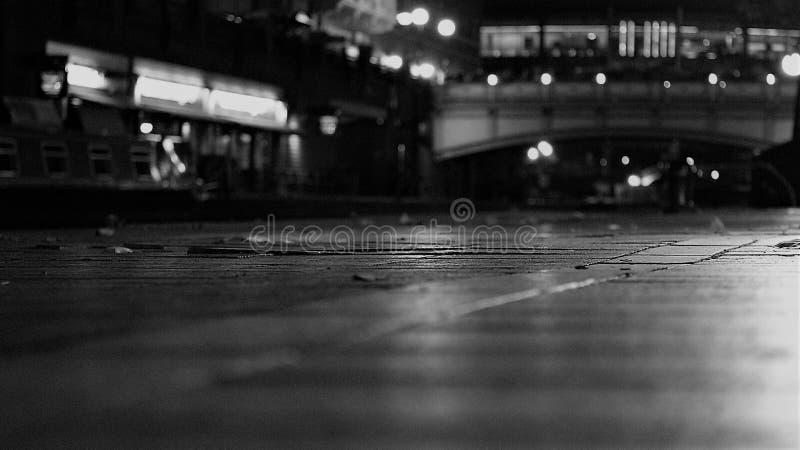 Opinião da rua do canal da caixa postal de Birmingham fotografia de stock