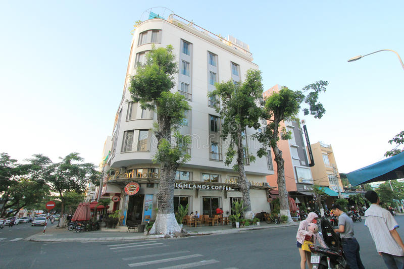 Opinião da rua do Da Nang de Vietname imagens de stock