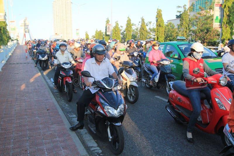 Opinião da rua do Da Nang de Vietname imagem de stock royalty free