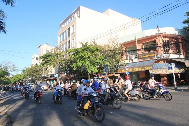 Opinião da rua do Da Nang em Vietname fotos de stock