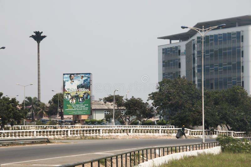 Opinião da rua em Accra, Gana fotografia de stock royalty free