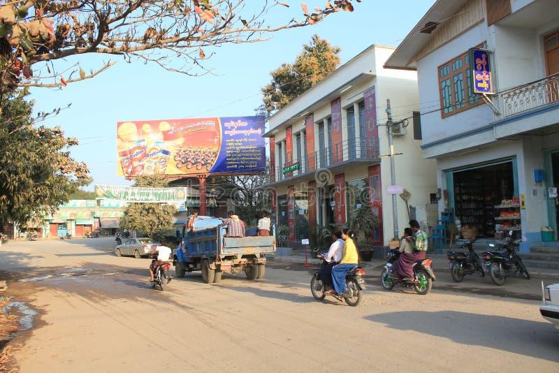 Opinião da rua em Bagan Myanmar imagem de stock