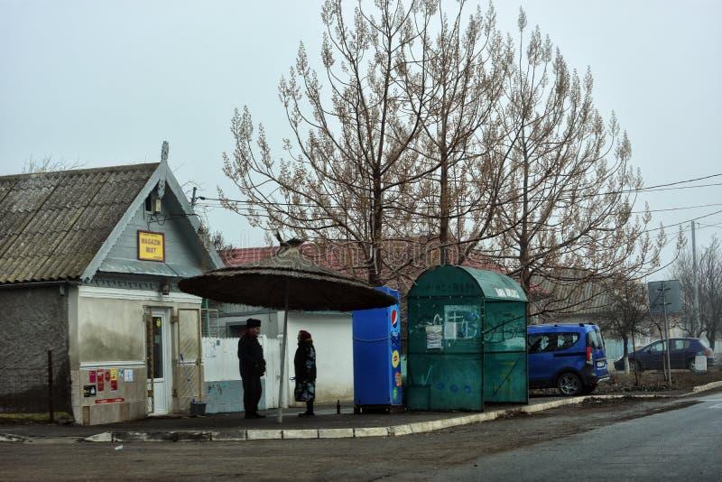 Opinião da rua em Jurilovca imagem de stock royalty free