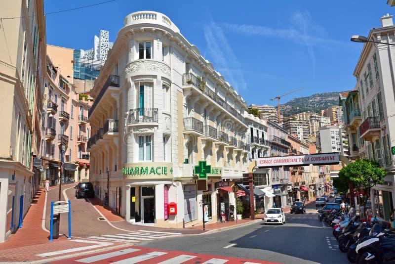 Opinião da rua em Mônaco imagens de stock