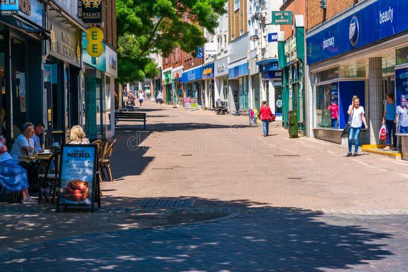 Opinião da rua em Ramsgate fotografia de stock royalty free