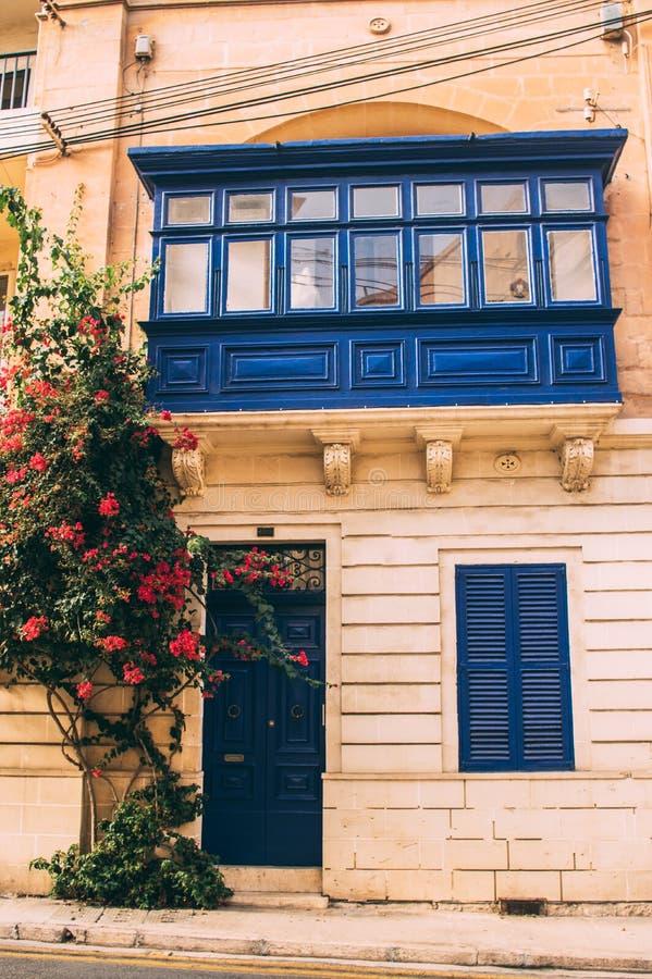 Opini?o da rua em Sliema, Malta imagens de stock