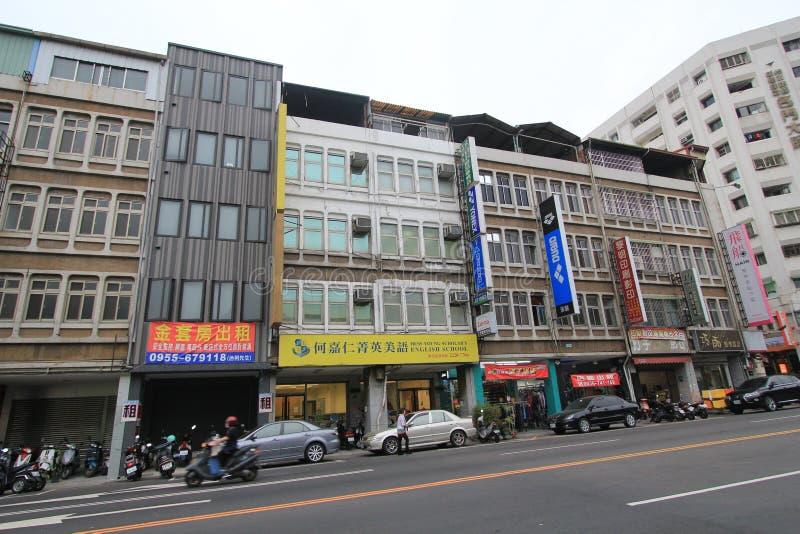 Opinião da rua em Taichung fotografia de stock royalty free