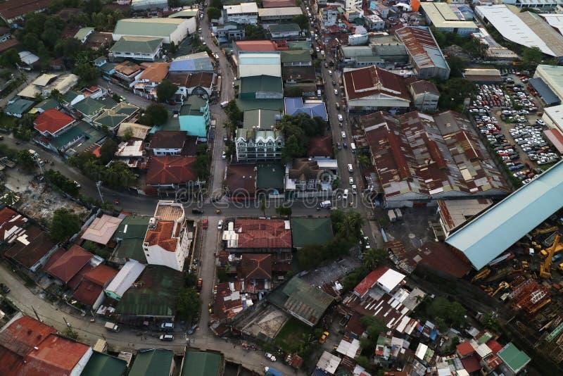 Opinião da rua - Manila Filipinas fotografia de stock
