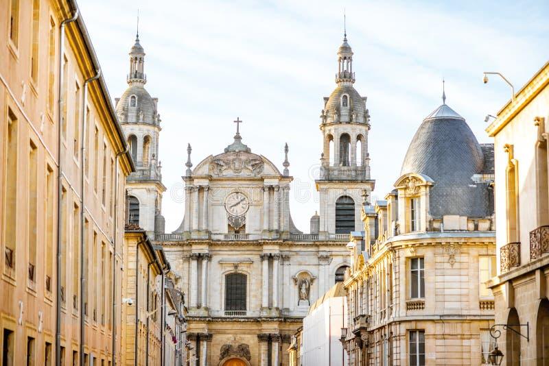 Opinião da rua na cidade de Nancy, França fotos de stock