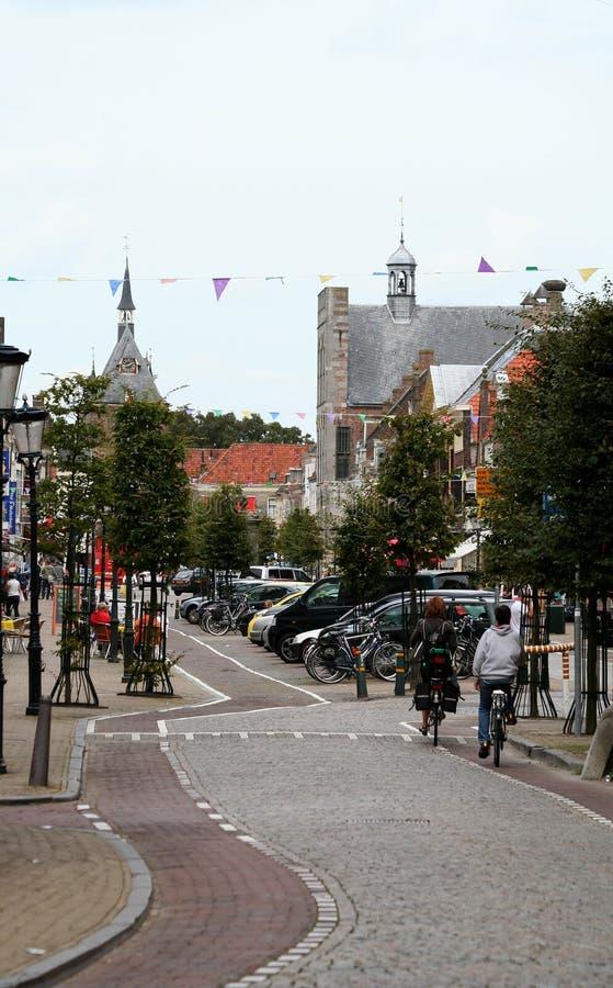 opinião da rua no Voorstraat em Vianen imagem de stock royalty free