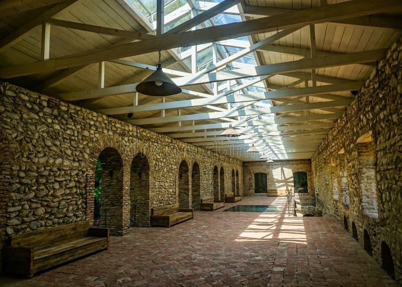 Opinião da sala do palácio de Telavi Tsinandali foto de stock royalty free