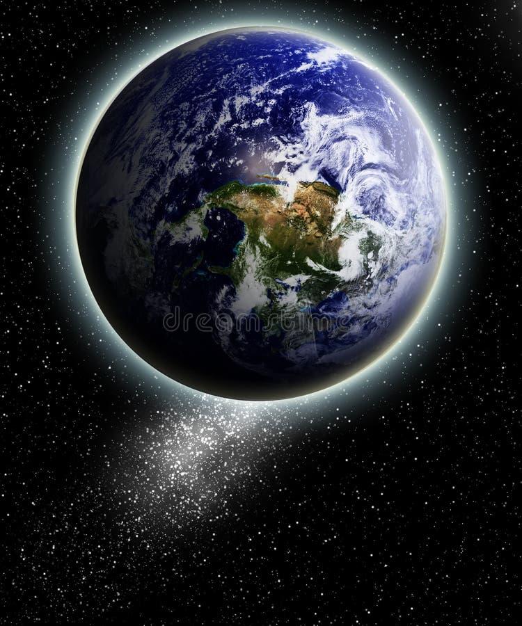 Opinião da terra ilustração stock