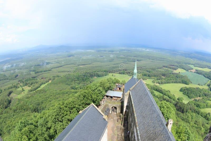 Opinião da torre, castelo de Bezdez imagem de stock royalty free