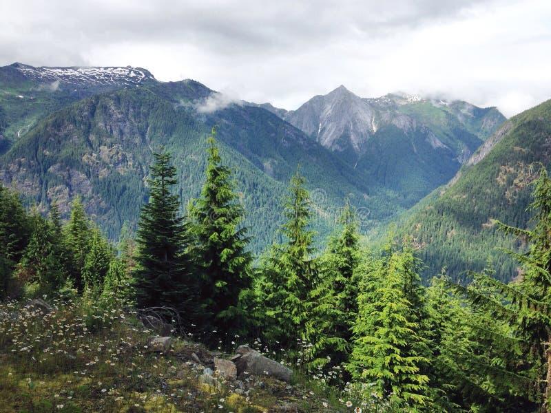 Opinião da vista da montanha da montanha da vigia fotografia de stock royalty free