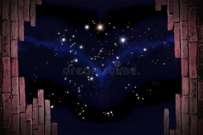 Opinião das estrelas imagens de stock