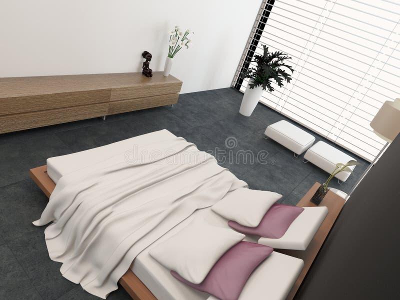 Opinião de ângulo alto de uma cama ortopédica ajustável ilustração stock