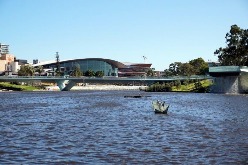 Opinião de Adelaide Elder Park fotografia de stock