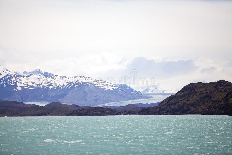 Opinião de Argentino Lake, Argentina da geleira de Onelli foto de stock
