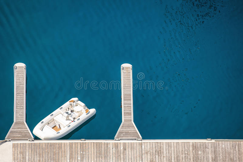 Opinião de Arial do porto de Monte - de Carlo em Mônaco imagem de stock