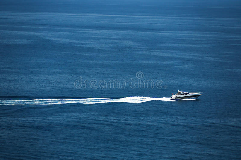 Opinião de Arial do porto de Monte - de Carlo em Mônaco fotografia de stock
