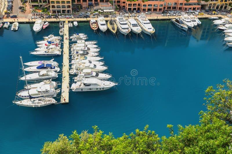 Opinião de Arial do porto de Monte - de Carlo em Mônaco foto de stock