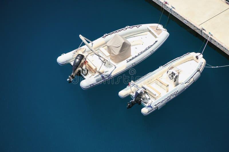 Opinião de Arial do porto de Monte - de Carlo em Mônaco imagens de stock royalty free