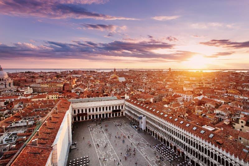 Opinião de Arial San Marco Square imagem de stock