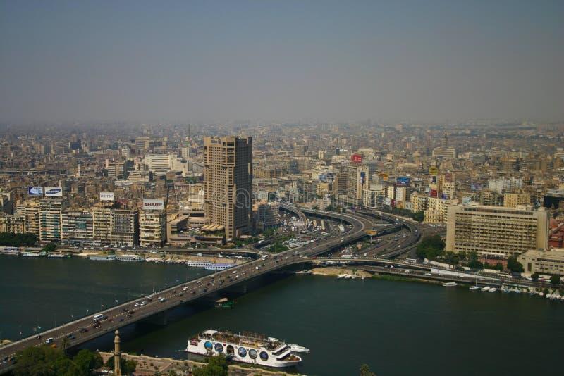 Opinião de Ariel da torre do Cairo fotografia de stock royalty free