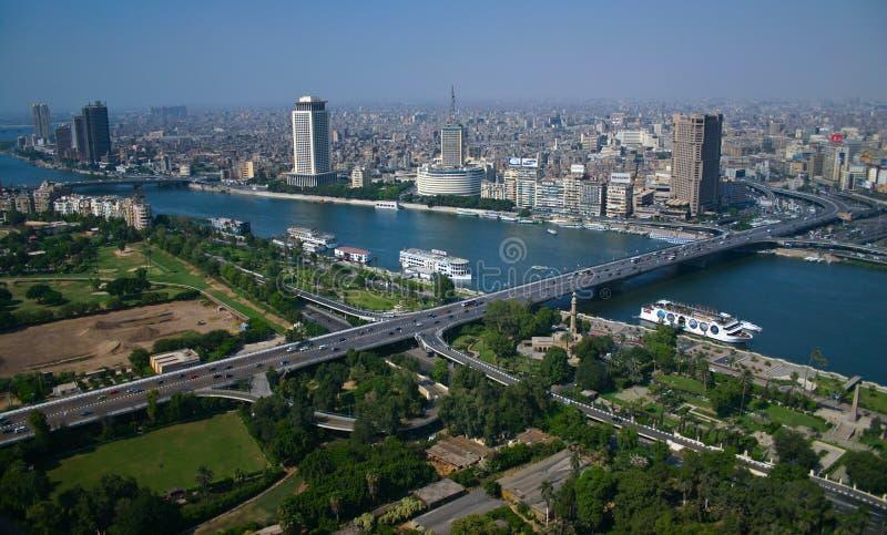 Opinião de Ariel da torre do Cairo foto de stock