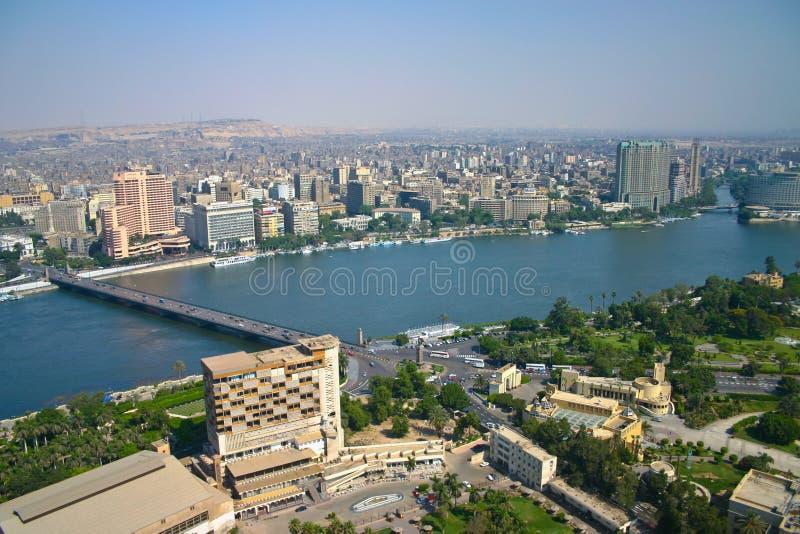 Opinião de Ariel da torre do Cairo fotos de stock royalty free