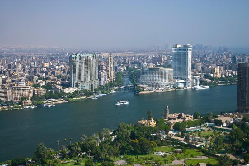 Opinião de Ariel da torre do Cairo fotografia de stock
