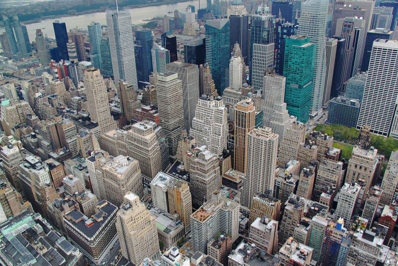 Opinião de Ariel em Manhattan New York EUA imagem de stock royalty free