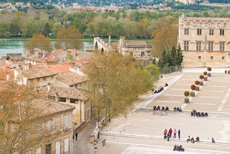Opinião de Avignon França do telhado dos papas Palácio fotos de stock royalty free