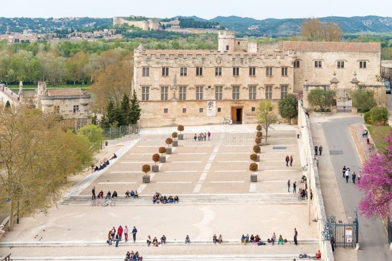 Opinião de Avignon França do telhado dos papas Palácio fotos de stock