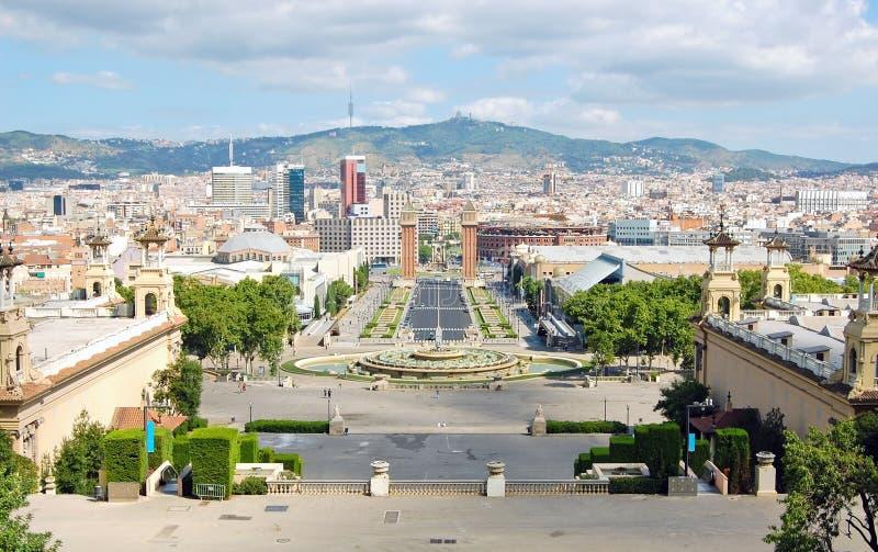 Opinião de Barcelona fotografia de stock royalty free