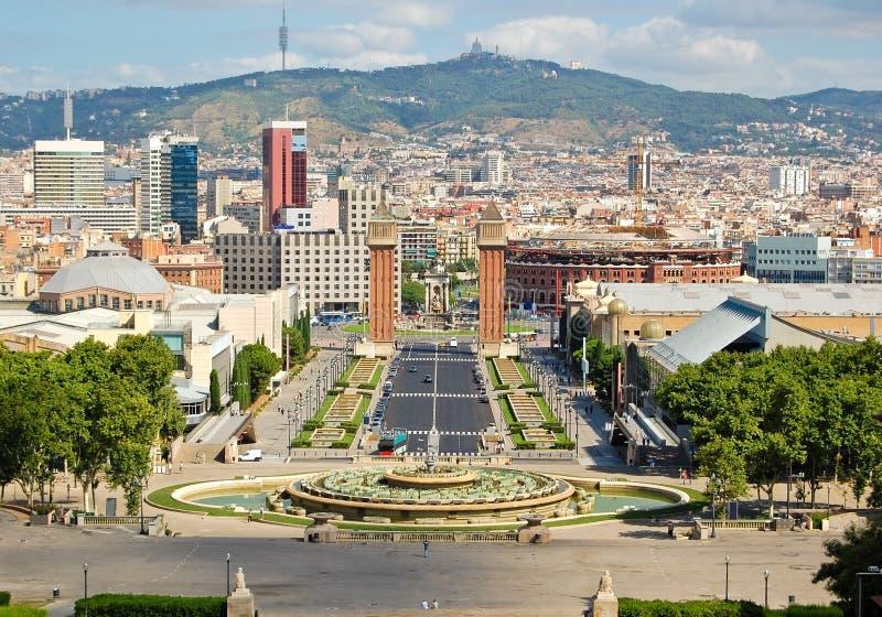 Opinião de Barcelona foto de stock royalty free
