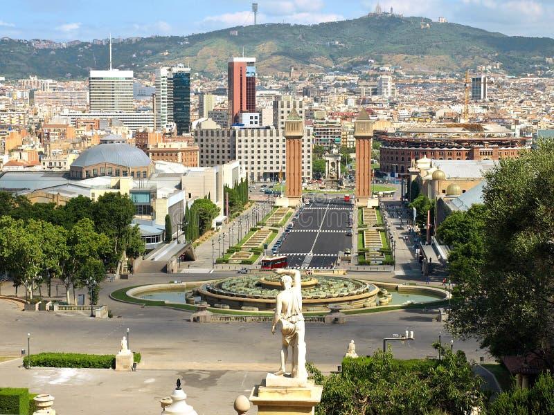 Opinião de Barcelona foto de stock