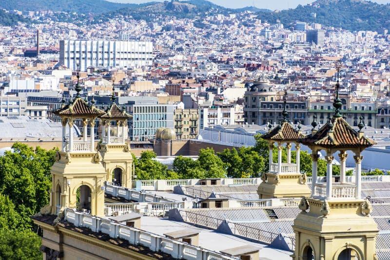 Opinião de Barcelona fotos de stock royalty free