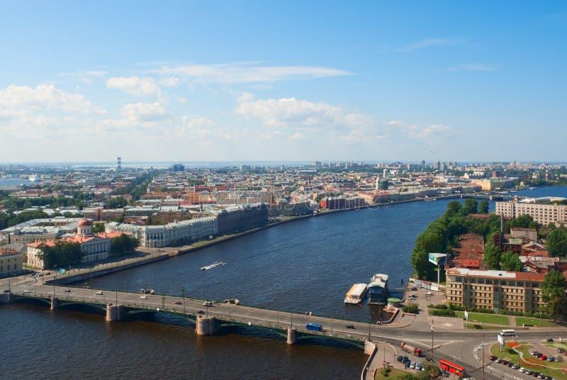Opinião de Birdseye de St Petersburg fotografia de stock royalty free