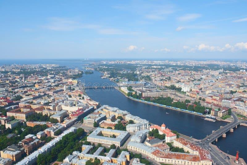 Opinião de Birdseye de St Petersburg foto de stock