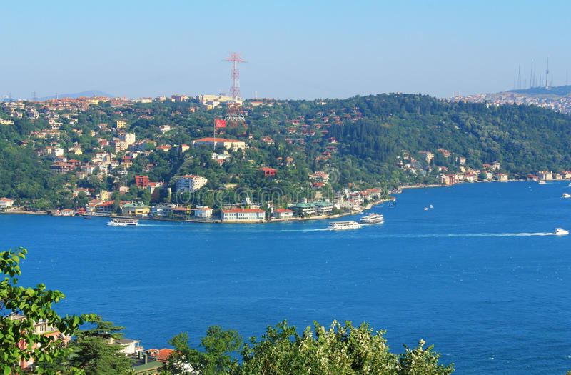 Opinião de Bosphorus, Istambul, Turquia imagem de stock