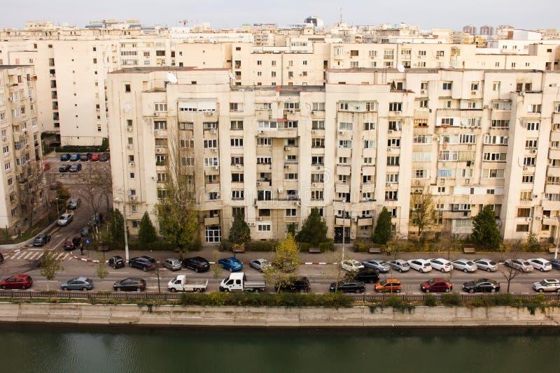 Opinião de Bucareste da parte superior fotografia de stock
