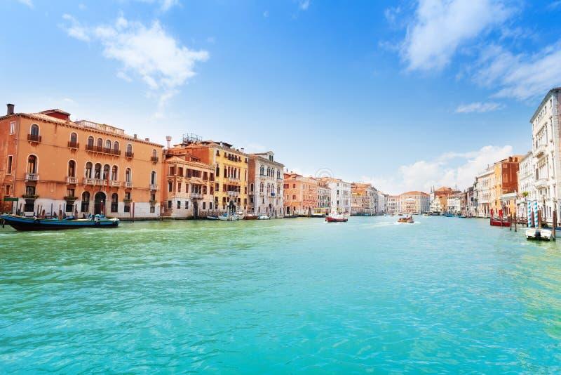 Opinião de canal grande em Veneza imagens de stock