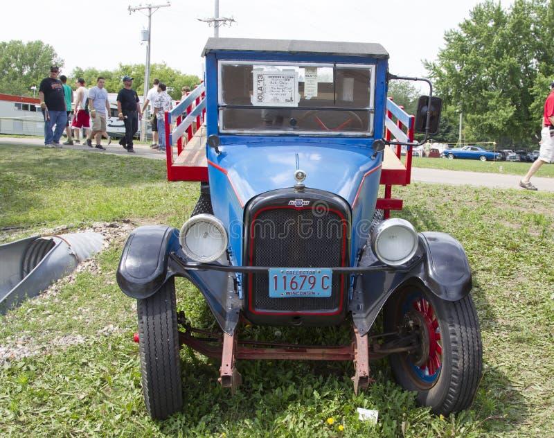 Opinião 1928 de Chevy One Ton Truck Front foto de stock