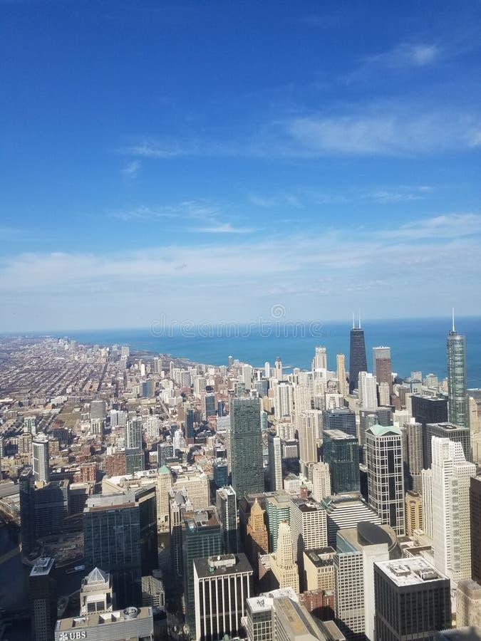 Opinião de Chicago fotografia de stock