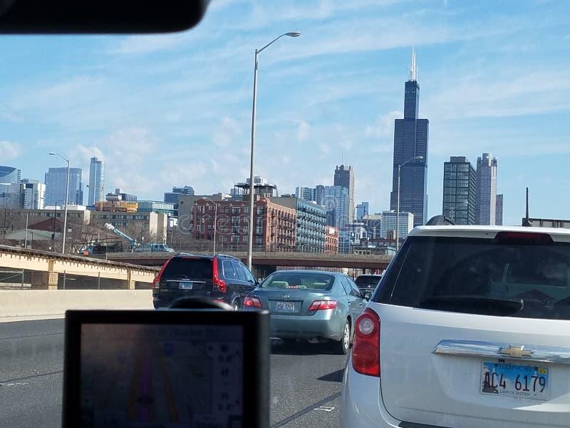 Opinião de Chicago fotos de stock royalty free