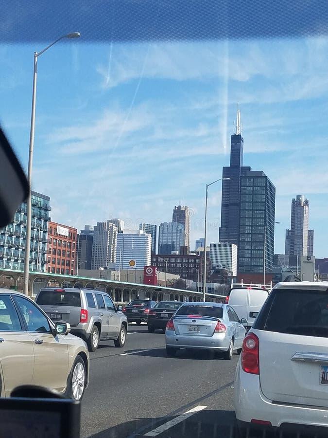 Opinião de Chicago imagem de stock royalty free