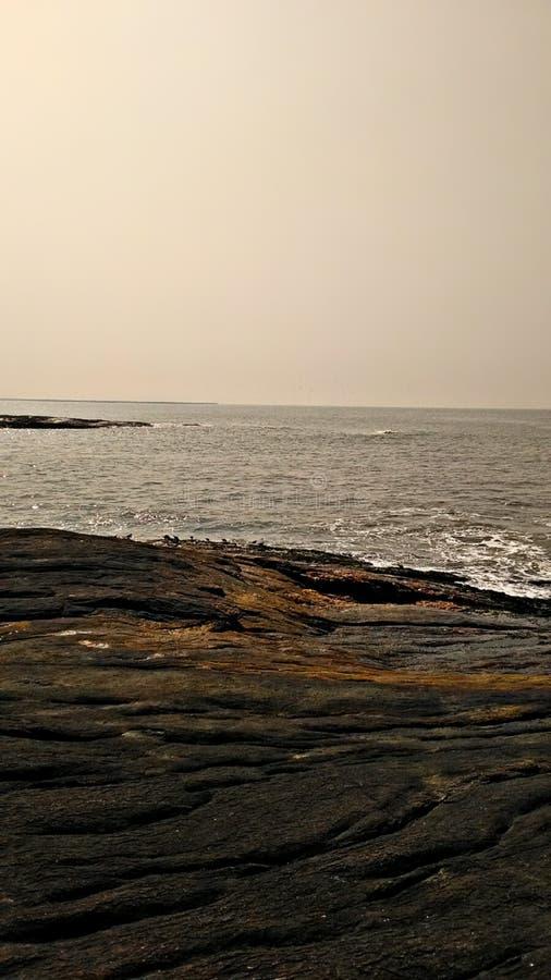 Opinião de costa de mar fotografia de stock