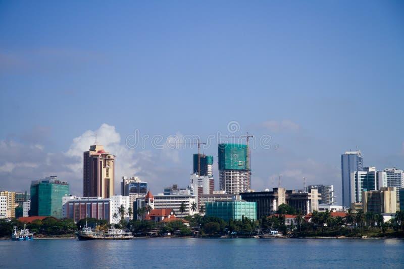 Opinião de Dar es Salaam do mar imagem de stock royalty free